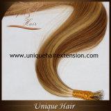 Estensioni Nano dei capelli dell'anello di Remy di colore del piano
