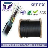 Cabo ao ar livre GYTS da fibra óptica do núcleo da antena 24 com a fita de aço blindada