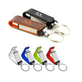 Tecla de couro correntes Thumb Drive Flash USB 2.0 Memory Stick