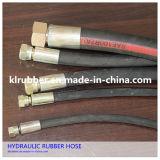 Huile haute pression hydraulique résistant au flexible en caoutchouc