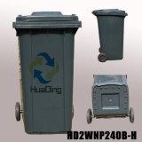 Plastiksortierfach-Gummirad-Abfalleimer des abfall-240L für im FreienHD2wnp240b-H