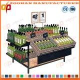Unidades de madera del estante de visualización del vehículo y de la fruta del supermercado del metal (ZHV84)