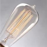 Lámpara retra 110V-120V de Edison de la vendimia de la bombilla del filamento de St58 E27 40W