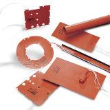 Calefator circular 12volt 24volt 110volt 220volt da borracha de silicone do elemento do calor