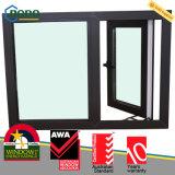 Double Windows modèle français noir glacé allemand de Veka UPVC