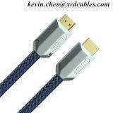 Cable HDMI 5FT - HDMI 2.0 (4K) Listo - 18Gb/s- 28AWG Cordón trenzado -Conectores chapados en oro - Ethernet, Audio Return - Video 4k 2160p HD 1080P, 3D
