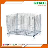 Contenitore resistente della gabbia del pallet della rete metallica