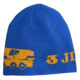 金のロゴNTD063のロイヤルブルーの編まれた帽子