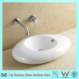 Salle de bain en céramique de haute qualité du bassin de lavage de comptoir