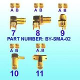 Connecteurs SMA, connecteur RF, connecteur SMB, connecteur Fakra, connecteur MMCX, câble (connecteur usine)