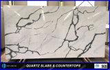 Parti superiori artificiali della barra della pietra del quarzo della decorazione di Calacatta per la cucina