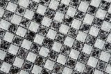 Mattonelle di mosaico di vetro di vendita Py015 del ghiaccio di Crackle 8mm della miscela di colore di miscela calda del nero