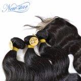 新しい星の一致させた絹の基礎閉鎖が付いている中国の卸し売りバージンの毛ボディ波の束は自由に部品