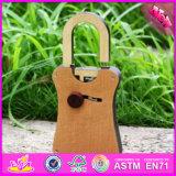 Giocattolo di legno W02A168 della serratura dei 2016 capretti del nuovo prodotto