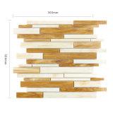 壁または床のためのブラウンそして白いステンドグラスのモザイク