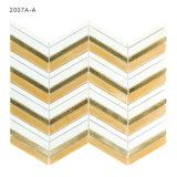 Mosaico all'ingrosso di vetro macchiato delle mattonelle di Backsplash della cucina di colore dell'oro della Cina