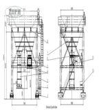 Trilho montado Mobile Dust Proof Port Cement Hopper