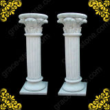 Colonne de marbre, pierre sculptée pilier