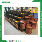 Supermarkt-Obst- und Gemüseschräg gelegenes Bildschirmanzeige-Regal Rcak