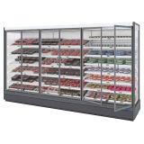 Супермаркет высшего качества молочной и овощной дисплей холодильник для супермаркетов