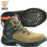 Haut talon Steel Toe Nubuck Chaussures de sécurité en cuir avec embout en acier