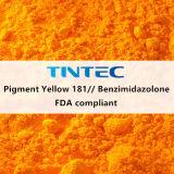 عضويّة صبغ أصفر [181/بنزيميدزولون] لأنّ بلاستيك (أصفر ضارب إلى الحمرة)