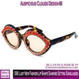 Óculos de sol 1390 do ajuste do diamante da senhora Novo Forma Bordo Forma
