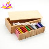 Nova melhores 11 em 1 materiais de ensino pré-escolar Montessori Madeira comprimidos de cores para as crianças W12f029