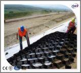 Strukturiertes perforiertes Oberflächen-HDPE PlastikGeocells für Steigung/Fahrstraße/Bahnkörper