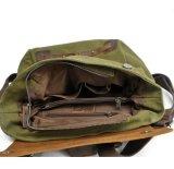 Os fabricantes de saco mochila usa couro mochila de lona viajando (RS-82042K)