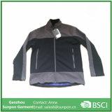 Os homens populares Soft Shell Jacket na cor preta e cinza