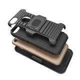 Caja combinada de la correa del clip de la pistolera a prueba de choques pesada fuerte de Kickstand para el iPhone 6