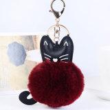 Bal van het Bont Faux POM van Keychain van de Staart van de Fee van de Levering van China de Mini