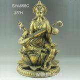 Da resina por atacado do ouro da boa qualidade de China deuses Hindu para a decoração Home