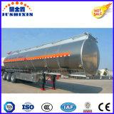 3-Axle 42cbm flüssiger Öltanker-halb Aluminiumschlußteil