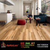 Azulejo de suelo de cerámica del diseño de madera rústico de la inyección de tinta para la sala de estar
