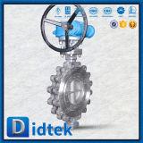 Tipo eccentrico valvola a farfalla dell'aletta di triplo superiore di vendita di Didtek