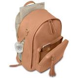 Sacchetto di cuoio del pannolino dell'unità di elaborazione di disegno del pannolino del bambino dello zaino alla moda della spalla