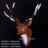 販売の高品質の樹脂の動物のシカヘッド彫刻の壁の芸術のために卸し売り