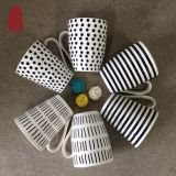 12oz comerciano il nuovo osso all'ingrosso Cina di colore 350ml di caffè della porcellana di ceramica bianca nera della tazza