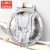 リボンが付いている最も熱いカスタム亜鉛合金の鋳造のスポーツの水泳の金属の記念品賞の円形浮彫りメダル