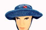 Cappello di Booney del cotone lavato protezione larga su ordinazione della benna di Lesiure di rivestimento del bordo
