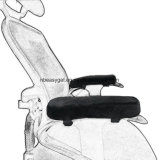 Garniture ergonomique d'accoudoir de présidence de mousse de mémoire, couverture confortable de reste de bras de présidence de bureau pour des coudes et décompression d'avant-bras (placer 2) d'Esg10404
