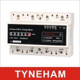 Метр трехфазного четырехпроводного DIN Rial Dts-4r электронный