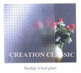 vidrio modelado de bronce de 3-6m m Nashiji para la ventana
