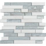 Neue Glasmischungs-natürliche Steinquarz-Mosaik-Fliese
