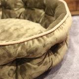 Base de lujo redonda para la base ortopédica del perro de la espuma redonda de la memoria del animal doméstico del perro