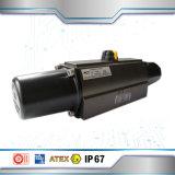 На-63D шаровой клапан двухстворчатый клапан двойного действия пневматический привод