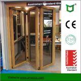 A porta de dobradura de alumínio do perfil com dobro vitrificou feito por Fábrica