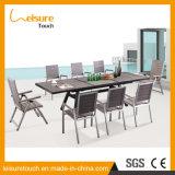 Tabella e presidenza di legno di plastica della lega di alluminio di produzione della mobilia esterna professionale del patio